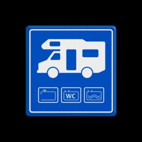 Parkeerbord Aanbieding loosplaats voor campers Parkeerbord Camper - losplaats loosplaats, losplaats, campers