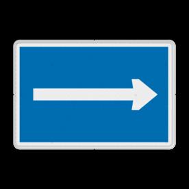 Scheepvaartbord Aanbeveling te varen in de richting aangegeven door de pijl. Scheepvaartbord BPR D. 3a - Aanbevolen vaarrichting D. 3a water, D3, D3a, aanbevelingstekens, aanbevelingsborden, waterweg, waterwegen, scheepvaarttekens, verkeerstekens