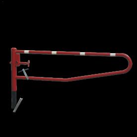 Draaiboom (SH1) hoogte 950 mm - Bodemmontage (verzinkt) draaiboom, slagboom, draaipaal, draaipoort, oversteek, klaarover, school, zebrapad, hefboom, inrit, uitrit