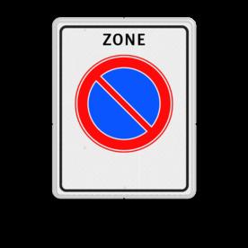 Verkeersbord Start parkeerzone Verkeersbord RVV E01zb - parkeerzone - Start parkeerzone E01zb zone, E1