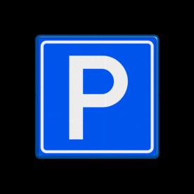 Verkeersbord Parkeergelegenheid Verkeersbord RVV E04 BE04 parkeerplaats, E4, parkeren, parkeerbord, parkeer