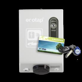 Ecotap HomeBox LCD SMART met laadpas-systeem  3,7-22 kW auto laadpunt, laadpasjes, met laadregistratie, elektrisch rijden, laadsessie, thuis laden, registreren