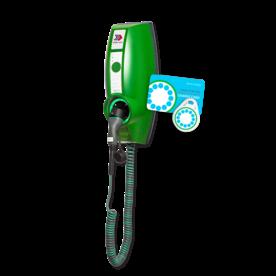 EVBOX Businessline 230V SMART met laadpas-systeem en vaste spiraalkabel type 2 Laadstation, oplaadpaal, laadpaal, EV-Box, EVBox, oplader, elektrische auto, thuis, aan huis, laadpunt, oplaadpunt, laadsessie, registreren, registratie, autolaadpunt, laadpasje