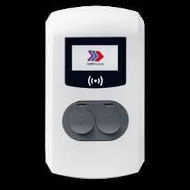 Eve Double Pro-Line met 2x socket op 1x voedingskabel / 3,7 - 22kW Laadstation, oplaadpaal, laadpaal, Alfen, ICU, oplader, elektrische auto, thuis, aan huis, laadpunt, oplaadpunt, laadsessie, registreren, registratie, autolaadpunt, laadpasje, dubbel laden