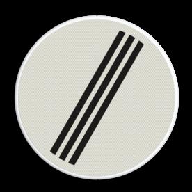 Verkeersbord Einde van alle door verkeersborden aangegeven verboden Verkeersbord RVV F08 - Einde alle verboden F08 einde verboden, F8