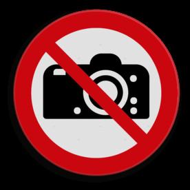 Product Verboden te fotograferen Veiligheidspictogram - Fotograferen verboden - P029 soepbord, foto's maken verboden, p29, camera verboden