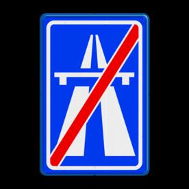 Verkeersbord Einde autosnelweg  Verkeersbord RVV G02 - Einde autosnelweg G02 einde snelweg, einde, G2