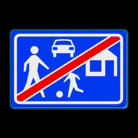 Verkeersbord Einde woonerf Verkeersbord RVV G06 - Einde woonerf G06 einde, kinderen, woongebied, G6