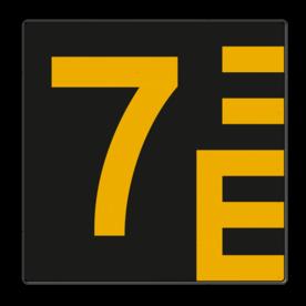Scheepvaartbord Hoogteaanduiding links van de vaarweg. Een hoogteschaal met onderverdeling wordt toegepast wanneer een zekere nauwkeurigheid van aflezing mogelijk en vereist is. Een hoogteschaal plaatst men in principe aan de van een naderend schip gezien Scheepvaartbord BPR G. 5.1 - Hoogteschaal zwart/geel links G. 5.1. water, brug, hoogte, waterweg, waterwegen, scheepvaarttekens, verkeerstekens