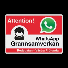 WhatsApp - Sweden  - Attention! Grannsamverkan - L209wa-g L209 Whats App, WhatsApp, watsapp, preventie, attentie, buurt, L209, wijkpreventie, straatpreventie, dorpspreventie