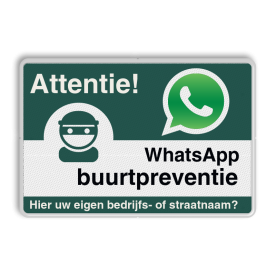 WhatsApp Attentie Buurtpreventie verkeersbord 01 - L209wa L209 Whats App, WhatsApp, watsapp, preventie, attentie, buurt, L209