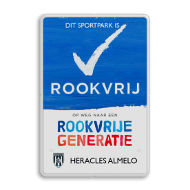 Rookvrij sportpark - Informatiebord - Op weg naar een Rookvrije generatie - Heracles Almelo Stadion, ajax, arena