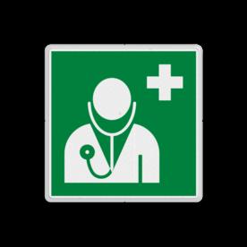 Reddingsbord E009 - Arts/Dokter Reddingsbord E009 - Arts/Dokter Arts, eerste hulp, EHBO, dokter, vluchtroutebord, vluchtroutebord, reddingsmiddelbord, evacuatie, evacuatiebord, veiligheidspictogram, veiligheidsbord, Nooduitgang pictogrammen, Vluchtrouteaanduiding, Verzamelplaats pictogram, Reddingspictogram, nooduitgang symbool, teken, icoon, symbolen, reddingsborden, bhv bord