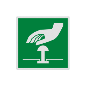 Product Noodstop Pictogram E020 - Noodstop E020 Noodknop, nood, knop, alarmknop, vluchtroutebord, reddingsmiddelbord, evacuatie, evacuatiebord, veiligheidspictogram, veiligheidsbord, Nooduitgang pictogrammen, Vluchtrouteaanduiding, Verzamelplaats pictogram, Reddingspictogram, nooduitgang symbool, teken, icoon, symbolen, reddingsborden, bhv bord