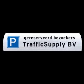 Parkeerbord voor betonrand / biggenrug 600x200mm parkeer, biggenrug, parkeer, rug, varkensrug, kop, parkeerplaats, reflecterend