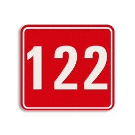Huisnummerbord Huisnummerbord LOS Huisnummerbord reflecterend 119x109mm Huisnummerbord, huisnummer, 119x109, Modern, Modern lettertype