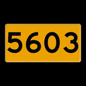 Scheepvaartbord Aanvullende aanduiding Scheepvaartbord H serie - Oeverfrontnummerbord tekstbord scheepvaart, water, F3