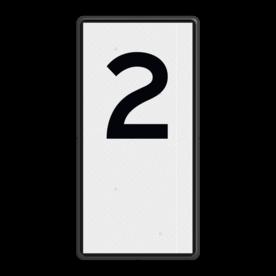 Scheepvaartbord Hectometeraanduiding Het toe te passen bordtype komt overeen met het toegepaste type kilometerbord (zie teken H.1a Kilometeraanduiding). De borden worden net als de kilometerborden evenwijdig aan de as van de vaarweg geplaatst. Scheepvaartbord BPR H. 1b - Hectometeraanduiding H. 1b H.1b, HM-bord, Hectometerbord, overige tekens, overige aanduidingen, waterweg, waterwegen, scheepvaarttekens, verkeerstekens