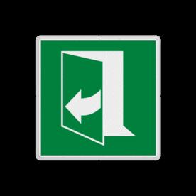 Product E058 - Deur opent door rechts te trekken Vluchtroute bordje E058 - Deur opent door rechts te trekken rechts, schakelen, mee wijzerzin draaien, omdraaien, vluchtroutebord, reddingsmiddelbord, vluchtroutebord, reddingsmiddelbord, evacuatie, evacuatiebord, veiligheidspictogram, veiligheidsbord, Nooduitgang pictogrammen, Vluchtrouteaanduiding, Verzamelplaats pictogram, Reddingspictogram, nooduitgang symbool, teken, icoon, symbolen, reddingsborden, bhv bord