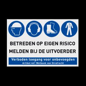 PBM bord voor Bouwplaats met Veiligheidsinstructies