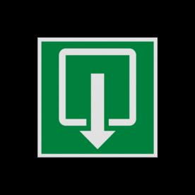 Product Nooduitgang Pictogram EN05 - Nooduitgang EN05 Nooduitgangsbord, uitgang, nooddeur, evacuatie, evaluatiebord