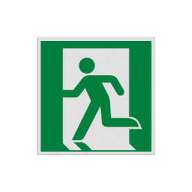 Product Nooduitgang links Pictogram E001 - Nooduitgang links E001 Nooduitgang, vluchtroute, route, deur, rechts, vluchtroutebord, reddingsmiddelbord, evacuatie, evaluatiebord