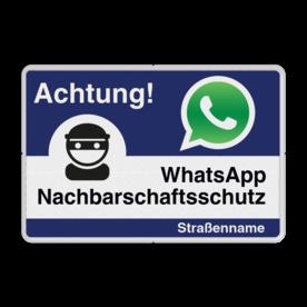 WhatsApp Achtung Nachbarschaftsschutz Verkehrsschild Whats App, WhatsApp, watsapp, preventie, attentie, L209, Duits, Duitsland, Nachbarschafts, Schutz, Achtung, Nachbarschaftsschutz, Straße
