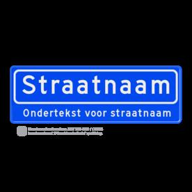 Straatnaambord 10 karakters 600x200 mm + ondertekst NEN 1772 cadeau, kado, Straatnaam kado, eigen tekst op een bord, NEN1772, reflecterend bord, officieel straatnaam, ondertekst, relatiegeschenk, straatnaamborden