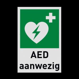 Product E010 - AED aanwezig Pictogram E010 - AED aanwezig hartmachine, automatische externe defribillator, defribilator, vluchtroutebord, reddingsmiddelbord, evacuatie, evaluatiebord
