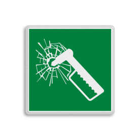 Product E025 - Noodhamer Vluchtroute bordje E025 - Noodhamer Nood, hamer, glas, breken, uitbreken, vluchtroutebord, reddingsmiddelbord, vluchtroutebord, reddingsmiddelbord, evacuatie, evacuatiebord, veiligheidspictogram, veiligheidsbord, Nooduitgang pictogrammen, Vluchtrouteaanduiding, Verzamelplaats pictogram, Reddingspictogram, nooduitgang symbool, teken, icoon, symbolen, reddingsborden, bhv bord