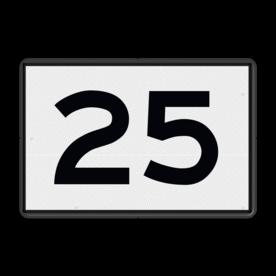 Scheepvaartbord Kilometeraanduiding Een kilometerbord moet uitgevoerd worden als wit bord met zwarte cijfers. De toe te passen cijfersoort is conform het Rijkswaterstaatsalfabet. De borden moeten evenwijdig aan de as van de vaarweg worden opgesteld. De kilometrering loopt van bron naar zee of van hoog naar laag kanaalpand. Scheepvaartbord BPR H. 1a - Kilometeraanduiding H. 1a H1a, KM-bord, overige tekens, overige aanduidingen, waterweg, waterwegen, scheepvaarttekens, verkeerstekens