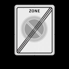 Verkeersbord Einde parkeerzone  Verkeersbord RVV E01zbe - einde parkeerzone - Einde parkeerzone E01zbe zonebord, E1