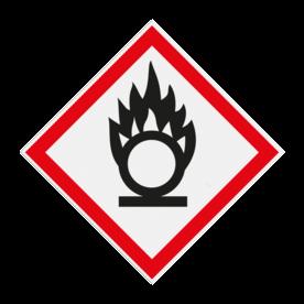 Product Gevaar oxiderende stoffen Pictogram GHS03 - Gevaar oxiderende stoffen GHS03 GHS, gevaar, symbolen, pictogrammen, reflecterend, chemicals, stoffen, mengsels, danger
