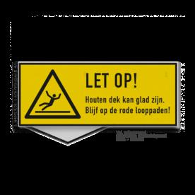 Waarschuwingsbord Gladde vloer - eigen opdruk Hoogspanning, gevaarlijk, spanning, kabel, hoogspanningsmast, laagspanning