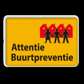 Verkeersbord L209b Attentie Buurtpreventie - geel L209 Whats App, WhatsApp, watsapp, preventie, attentie, OV0495, L209, Buurt