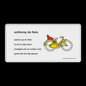 Dick Bruna - Lesbord - achter op de fiets Nijntje, Dick Bruna, lespakket, verteltas, stoeptegel, Lesbord 'achter op de fiets'