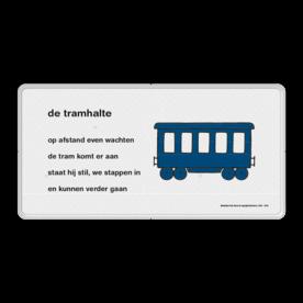Dick Bruna - Lesbord - de tramhalte Nijntje, Dick Bruna, lespakket, verteltas, stoeptegel, Lesbord 'de tramhalte'