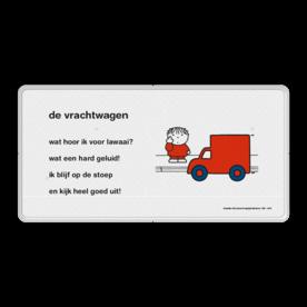 Dick Bruna - Lesbord - de vrachtwagen Nijntje, Dick Bruna, lespakket, verteltas, stoeptegel, Lesbord 'de vrachtwagen'