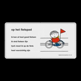 Dick Bruna - Lesbord - op het fietspad Nijntje, Dick Bruna, lespakket, verteltas, stoeptegel, Lesbord 'op het fietspad'