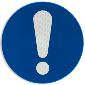 Gebodsbord M001 - Algemeen gebod Gebodsbord M001 - Algemeen gebod NEN7010, veiligheidspictogram, opletten, Algemene, Geboden