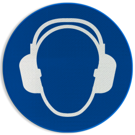Product M003 - Gehoorbescherming verplicht Pictogram M003 - Gehoorbescherming verplicht NEN7010, veiligheidspictogram, gehoor, oor, bescherming, oordoppen