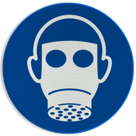 Gebodsbord M017 - Ademhalingsbescherming verplicht Gebodsbord M017 - Ademhalingsbescherming verplicht NEN7010, veiligheidspictogram, gasmasker, verplicht, gas, masker, Adem, bescherming
