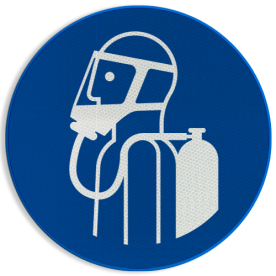 Product Ademhalingsapparaat verplicht Pictogram M047 - Ademhalingsapparaat verplicht M047 NEN7010, veiligheidspictogram, gasmasker, verplicht, gas, masker, Adem, bescherming, apparaat, zuurstof, zuurstoffles