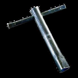 Driekantsleutel 19 mm standaard DIN22417 driehoeksleutel, driekant, parkeerpaal, sleutel, brandweersleutel