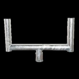 Opzetstuk Ø76 STAAL - voor montage 2 verkeersspiegels bevestigen, bevestigingsmateriaal, gevelbevestiging, gevel, wandmontage
