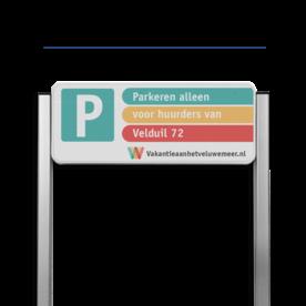 Parkeerplaatsbord unit type TS3 + Parkeren eigen ontwerp Parkeerbord, parkeerplaats, unit,