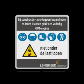 Veiligheidsbord 1:1 PBM met klant specifiek ontwerp priveterrein, eigen tekst, wegenverkeerswet,