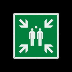 Product Verzamelplaats - E007 Verzamelplaats bord BHV E007 - BT33 BT33 Vlucht, Vluchtroute, verzamelplaats, verzamelbord, verzamelen, calamiteiten, BHV, verzamelpunt, Eigen Terrein, BT34, , vluchtroutebord, reddingsmiddelbord, evacuatie, evacuatiebord, veiligheidspictogram, veiligheidsbord, Nooduitgang pictogrammen, Vluchtrouteaanduiding, Verzamelplaats pictogram, Reddingspictogram, nooduitgang symbool, teken, icoon, symbolen, reddingsborden, bhv bord