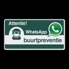 WhatsApp Attentie Buurtpreventie Informatiebord 05 basic - L209wa-g Whats App, WhatsApp, watsapp, preventie, attentie, buurt, L209, wijkpreventie, straatpreventie, dorpspreventie