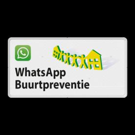 Verkeersbord L209e WhatsApp Buurtpreventie - 02 L209e Whats App, WhatsApp, watsapp, preventie, attentie, OV0495, L209, Buurt